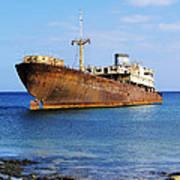 Shipwreck On Lanzarote Art Print