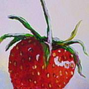 Single Strawberry Art Print
