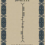 Smith Written In Ogham Art Print