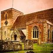 St Marys Church Kintbury Art Print