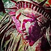 Statue Liberty Art Print