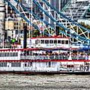 The Dixie Queen Paddle Steamer Art Print