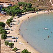 The Famous Psili Ammos Beach Art Print