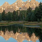 The Grand Tetons Schwabacher Landing Grand Teton National Park Art Print