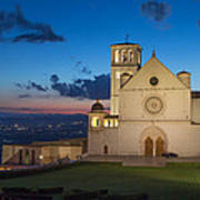 The Papal Basilica Of St. Francis Of Assisi  Art Print