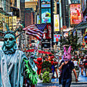 Times Square On A Tuesday Art Print