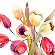 Tulips Flowers Art Print