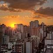 Twilight In Sao Paulo Art Print