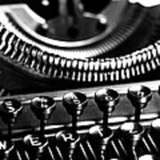 Typewriter Art Print by Falko Follert