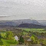 View Of Wallace Monument And Surrounding Areas Art Print