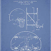 Vintage Basketball Goal Patent From 1944 Print by Aged Pixel