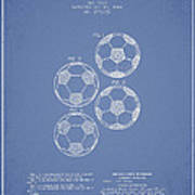 Vintage Soccer Ball Patent Drawing From 1964 Print by Aged Pixel