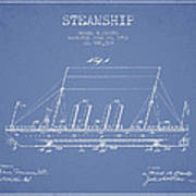 Vintage Steamship Patent From 1911 Art Print