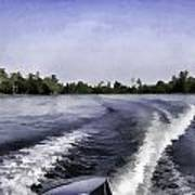 Wake From The Wash Of An Outboard Motor Art Print