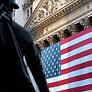 Wall Street Flag Art Print