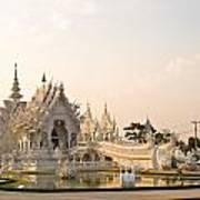 Wat Rong Khun In Chiang Rai Thailand  Art Print