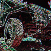 4 Wheelin Art Print