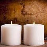 White Candles Art Print