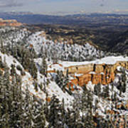 Winter Scene, Bryce Canyon National Park Art Print