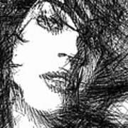 Woman Sketch Art Print