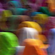 Women In Colorful Saris Gather Art Print
