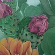 Yellow Cactus Blossom Art Print