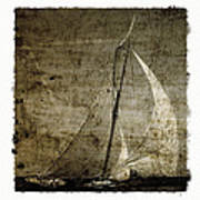 40 Sailboat - With Open Wings In A Grunge Background  Art Print