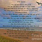40- Wild Geese Mary Oliver Art Print by Joseph Keane