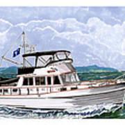 42 Foot Grand Banks Motoryacht Art Print