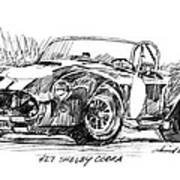 427 Shelby Cobra Art Print by David Lloyd Glover