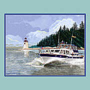 43 Foot Tollycraft Southbound In Clovos Passage Art Print