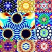 432hz Cymatics Grid Art Print