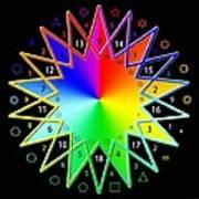 432hz Rainbow Star Art Print