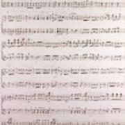 Handwritten Sheet Music, Music Notes Art Print