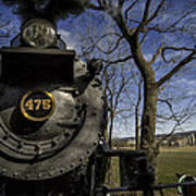 #475 Steam Engine On The Strasburg Rr 04 Art Print