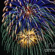 4th Of July 2014 Fireworks Mannington Wv 1 Art Print