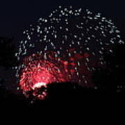 4th Of July Fireworks - 011316 Art Print