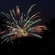 4th Of July Fireworks - 01139 Art Print by DC Photographer