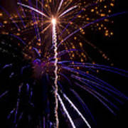 4th Of July Fireworks Art Print by Ray Devlin