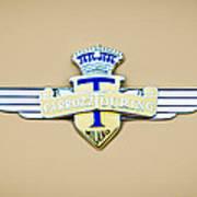 1954 Hudson Italia Touring Coupe Emblem Art Print
