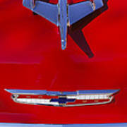 1955 Chevrolet Belair Nomad Hood Ornament Art Print