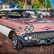 1958 Chevrolet Bel Air Impala Painted  Art Print