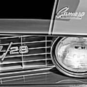 1969 Chevrolet Camaro Z 28 Grille Emblem Art Print