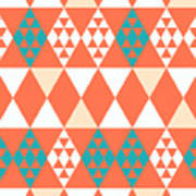 Abstract Retro Pattern. Vector Art Print