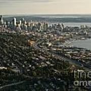 Aerial View Of Seattle Art Print
