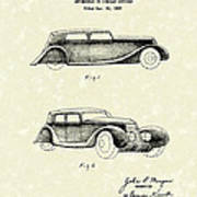 Automobile 1935 Patent Art Art Print