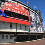 Chicago Cubs - Wrigley Field Art Print by Frank Romeo