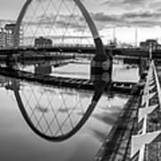 Clyde Arc Squinty Bridge Print by John Farnan