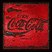 Coca Cola Classic Vintage Rusty Sign Art Print