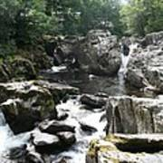 Conwy River Near Betws Y Coed.  Art Print